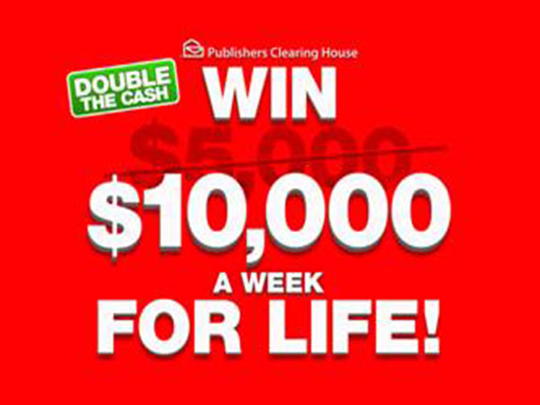Win $10,000.00 a Week for Life!