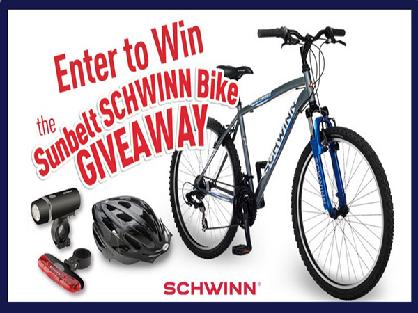 EXPIRING SOON: Win a Schwinn Bike from Sunbelt Bakery