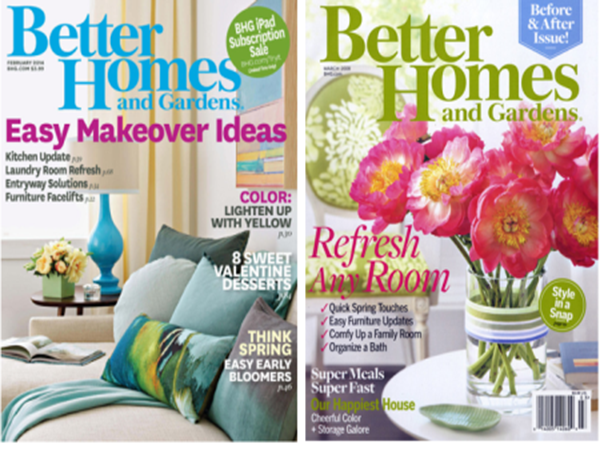 FREE Subscription to Better Homes and Gardens Magazine wsign up
