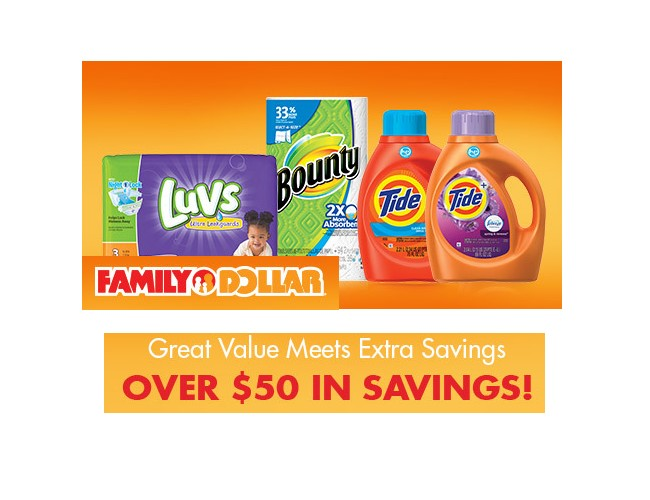 Coupons for household items