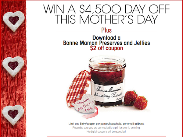Win $4,500 Day Off from Bonne Maman!