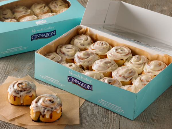 FREE Minibon Cinnamon Roll at Cinnabon with signup