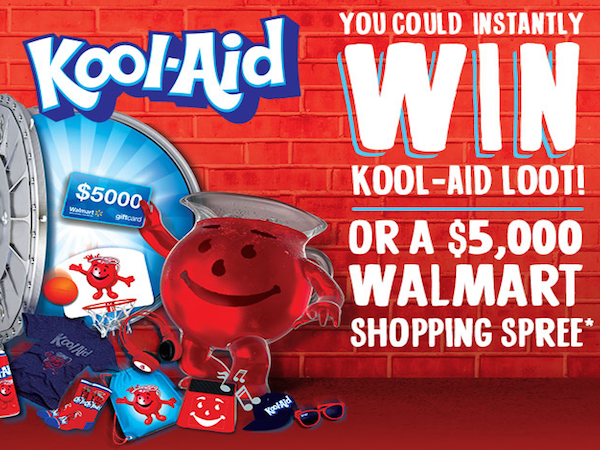 EXPIRING SOON: WIN $5000 Walmart Shopping Spree from Kool-Aid