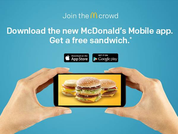 FREE Mc Sandwich with app download