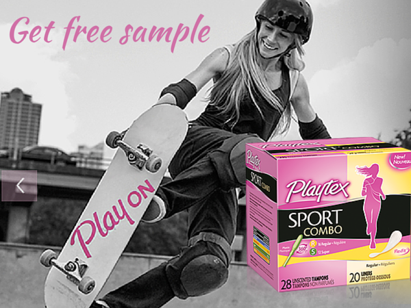 FREE Sample of Playtex® Sport® with sign up
