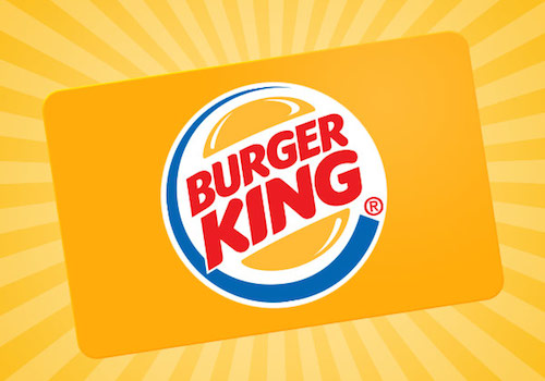 Your BK ® gift card may be used at any Burger King restaurant in Canada. BURGER KING ® Crown Gift Cards may be purchased in-store at your local Burger King restaurant, or at selected retailers across Canada including Wal-Mart, Shoppers Drug Mart, London Drugs, .