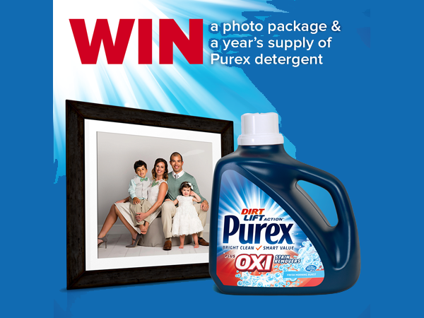 LAST DAY TO ENTER! WIN a JC Penney Photo Package and a Year's Supply of Purex Detergent