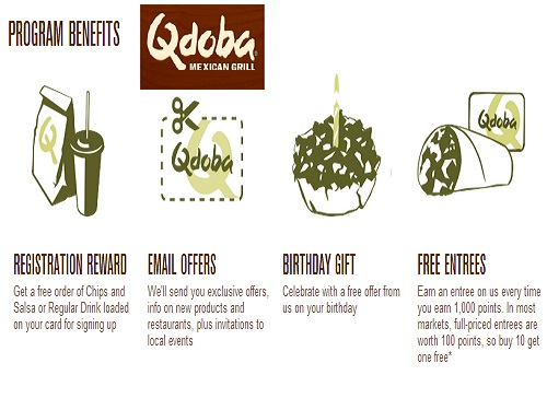 FREE Chips & Salsa at QDOBA® Mexican Grill when you signup