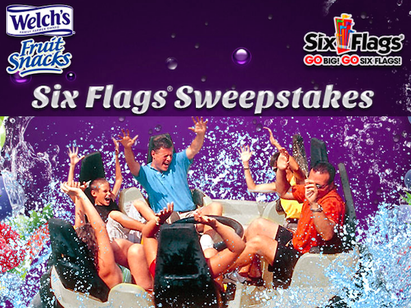 WIN Six Flags 2015 Season Pass from Welch's Fruit Snacks
